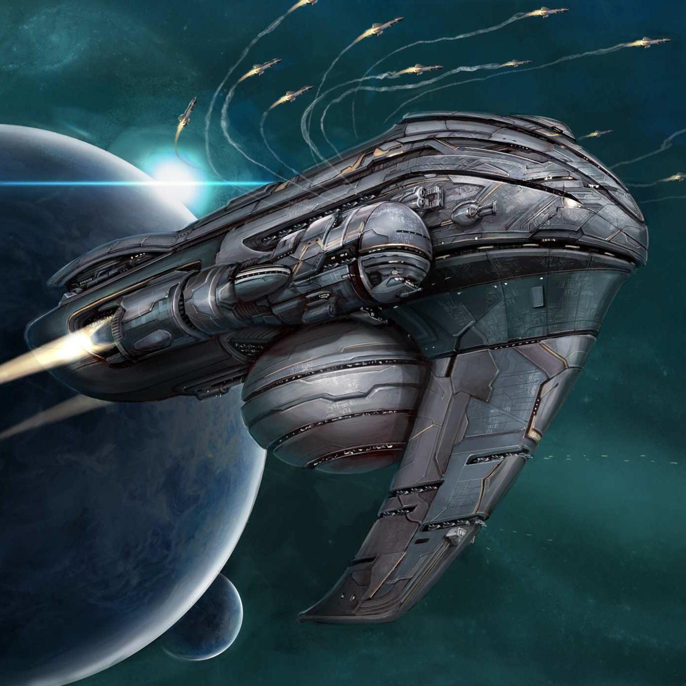 Celestine Ascendancy missile cruiser - reduced